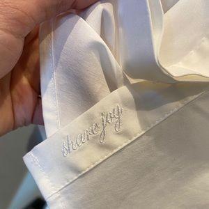 White House Black Market Tops - WHBM NWT white buttondown top w/ ruffled front tie